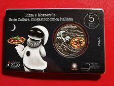 5 euro 2020 ITALIA Pizza e Mozzarella Serie Cultura Enogastronomica Italiana FDC