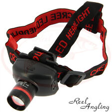 300 Lumen Cree led Head Torch Light Lamp Fishing Hunting NGT Tackle High Powered