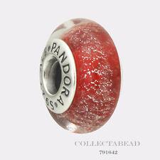 Authentic Pandora Silver Murano Glass Disney Snow White's Signature Bead 791642
