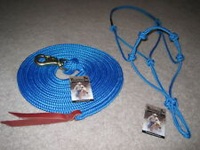 THOMEY NATURAL HORSE TRAINING HALTER & LEAD ROPE ~~ BLUE