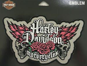 """Harley Davidson Pink & Grey Rebel 4"""" x 6 1/2"""" Motorcycle Biker Vest EM225073"""