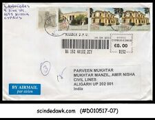 CYPRUS - 2011 REGISTERED envelope to INDIA with Stamps