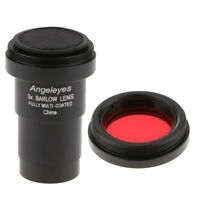 Telescope Eyepiece Barlow Lens 3X Magnification + Astronomical Filters #25A