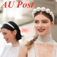 Fashion Women's Pearl Crown Hairband Headband Crystal  Hair  Accessories