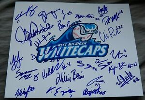 2019 West Michigan Whitecaps Team Signed Photo Parker Meadows Ulrich Bojarski