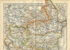 Alte historische Landkarte 1878 M3 Bosnien Serbien Bulgarien Balkan-Halbinsel