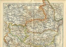 "Landkarte ""Rumänien, Bulgarien, Serbien, Montenegro"" -  Von 1895    (J-BE2)"