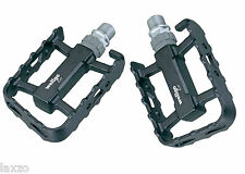 "Wellgo LUC17 - 9/16"" ATB Pedals Black with Sealed Bearing for MTB Tour Commute"