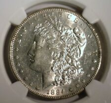 1884 S  MORGAN SILVER DOLLAR  NGC  AU-55  SUPER LOOKING COIN!!!