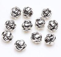 50 Tibetan Silver Lantern Spacer Bead Charm Jewelry Finding Making Craft 4mm DIY