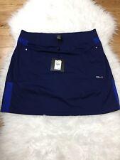Golf Skirt Ralph Lauren RLX Women Moisture Wick Pockets Blue Sz M New MRSP $120