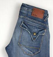 G-Star Brut Hommes Limite Classique Jeans Jambe Droite Taille W32 L32 AMZ487