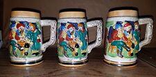 Vintage Stein Mugs Made in Japan Set of 3