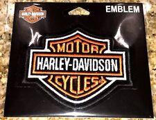 "HARLEY DAVIDSON MOTOR CYCLES BAR & SHIELD CLOTH PATCH EMBLEM 4""X 3"""
