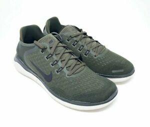 MEN Nike Free RN 2018  Running Shoes SZ- 7.5- Cargo Khaki Sequoia -942836  300