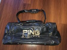 Vintage Ping Golf Travel Leather Duffle Tote Gym Bag Carry Bag Vtg