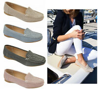 Jo & Joe Womens Flat Suede Moccasins Shoes Casual Flatform Slip On Suede Pumps
