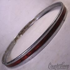 "*Sonor 20"" Red Wine Ripple Bass Drum Hoop Vintage 60s Teardrop Ferro-Manganese*"