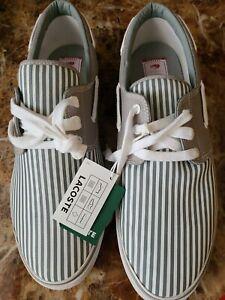 Lacoste Men Canvas Barbuda SZ 13 Casual Shoes NWT
