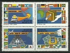 Mint Never Hinged/MNH Block Brazil Stamps