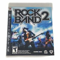 Rock Band 2 (Sony PlayStation 3, 2008) Complete w/Manual Tested Works