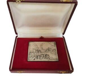 Medaille Club Parma Musicale, Sipario Teatro, Regio Parma, 7.4 x 5.5cm, 124g