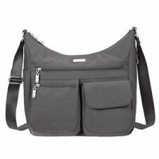 baggallini Everywhere Bagg Lightweight Nylon Crossbody Handbag Charcoal Grey