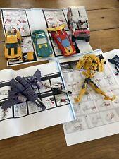 Lot De 6 Figurines Voitures Avion Transformers - Incomplet.