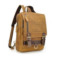 Vintage Men Real Leather Sling Bag Chest Pack Backpack Messenger Bag Travel Bag