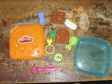 Play doh modeling clay box filled with tools molds forms marks container kids