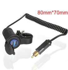 For BMW Truck Triumph Hella Plug Socket Bike Motorcycle Dual USB Adapter Charger