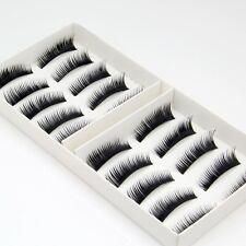 Brand New 10 Pairs Natural False Eyelashes Fake Makeup Eye Lashes Lash + GLUE