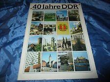 40 Jahre DDR ,Dokumentation / Entwicklung DDR , Politik / Wirtschaft  , Mai 1989