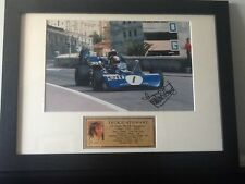 Jackie Stewart Hand Signed Framed Photo with COA Mounted Photo Display F1 Champ