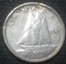 Canada > 1947 10 Cent 0.8000 Silver Ruler: George VI Rev.: Bluenose sailing