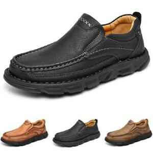 39-48 Mens Faux Leather Driving Moccasins Shoes Pumps Slip on Loafers Outdoor L