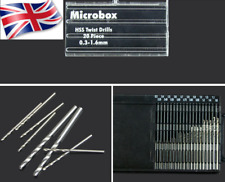 Drill bit Set Metric 0.3-1.6mm 20 Pcs HSS Metal Micro mini drill