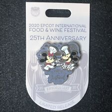 Disney Epcot Food And Wine 25th Anniversary Mickey And Minnie Pin Lr New