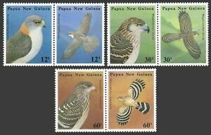 Papua New Guinea 620-625a,MNH.Michel 497-502. Indigenous Birds of Prey,1985