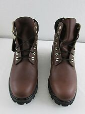 "TIMBERLAND $190.00 Men's Size10 M DARK BROWN 6"" GRAIN LEATHER Boots NEW"