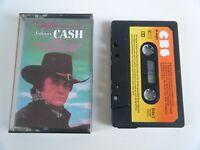 JOHNNY CASH THE ADVENTURES OF CASSETTE TAPE 1982 ORANGE PAPER LABEL CBS UK