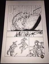 Armorines #3 Page 21 Original Ink art Jim Calafiore & Rod Ramos Valiant Comics