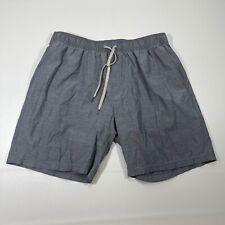 Fair Harbor Lined Swim Trunks Men's Size Extra Large Grey Drawstring