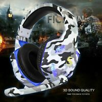 3.5mm K17 Gaming Headset MIC LED Headphones for PC Laptop PS4 Pro Xbox One UK