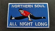 MOD SKA SCOOTER SEW ON / IRON ON PATCH:- NORTHERN SOUL (g) ALL NIGHT LONG DANCER
