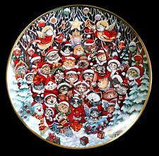 Santa Claws Cats Decorative Plate Bill Bell Franklin Mint Numbered Porcelain