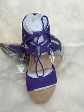 Vionic Noble Tansy Women's Espadrille Wedge Purple Size 9