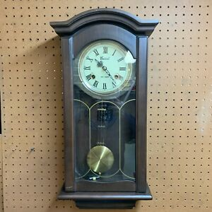 Centurion 35 Day Key Wood Wall Clock 683KH See Video
