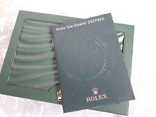Rolex seadweller deepsea Booklet Very Rare Language Italian Year 2008 Ref-605.55