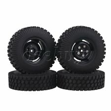 "4x Gravel Rubber Tire & 1.9"" 4 Hole Wheel Rim 12mm Hex for RC1:10 Rock Crawler"
